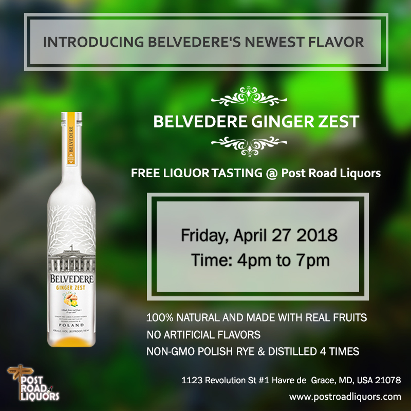 Introducing Belvedere's Newest Flavor - Ginger Zest