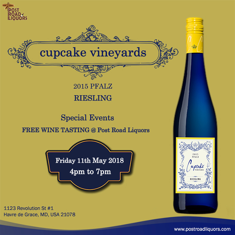 Free Liquor tasting of CUPCAKE VINEYARDS