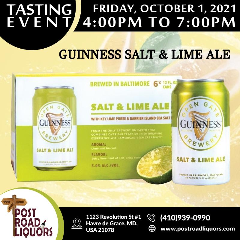 Guinness salt & lime ale